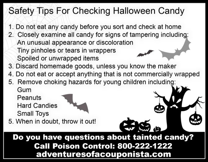 free printable safety tips for checking halloween candy