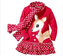 5b. Vestido de Bambi + mallas de lunares Color: Rojo. Bambi dress + polka dots leggins.  Color: Red.  Pedidos / For order: shopping.lts@gmail.com