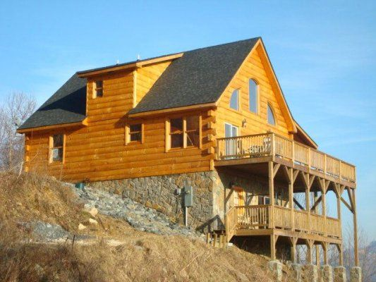 carolina rental beech vacation laurel mountains vista log blue sugar elk banner ridge nc image rentals cabins buena mountain cabin