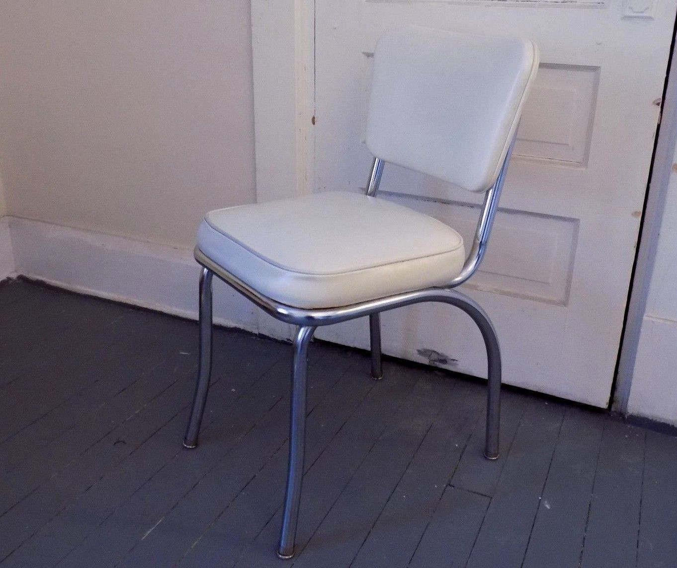 Kitchen Desk Chair Emperor Gaming Richardson Seating Retro 1950s Style Chrome Side
