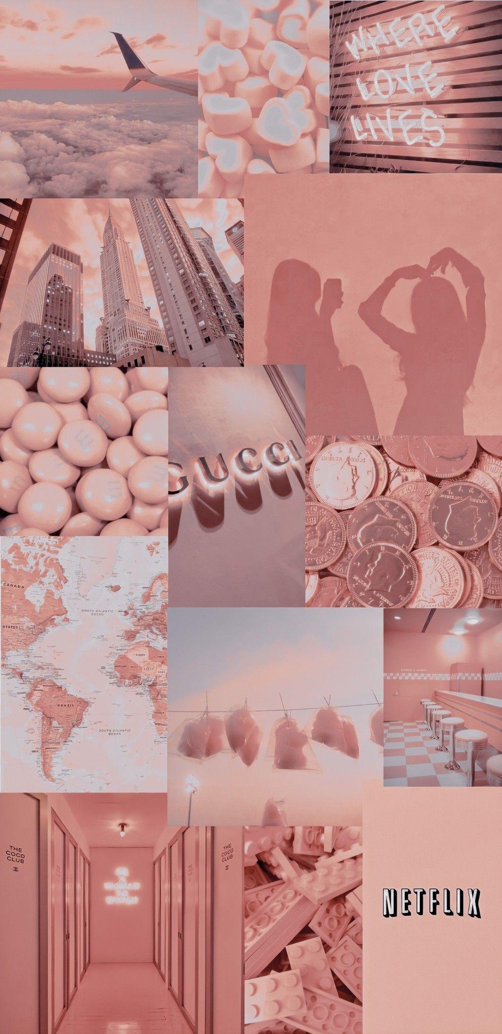 Wallpaper aesthetic rose   Collage hintergrund, Hintergrundbilder ...