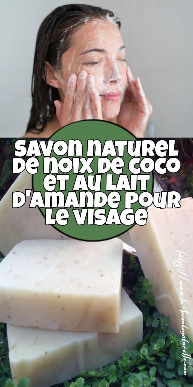 Savon naturel de noix de coco et au lait damande pour le visage