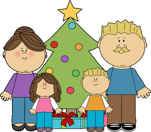 Christmas Family Clip Art