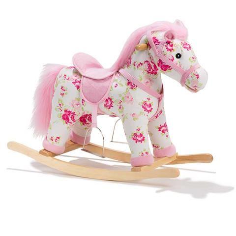 rocking horse with sound flower print kmart baby styling flower prints horses rocking. Black Bedroom Furniture Sets. Home Design Ideas