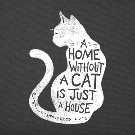 45ab62326ed59a Women's A Home Without A Cat Crusher Tee   Kitties!   Cat art ...