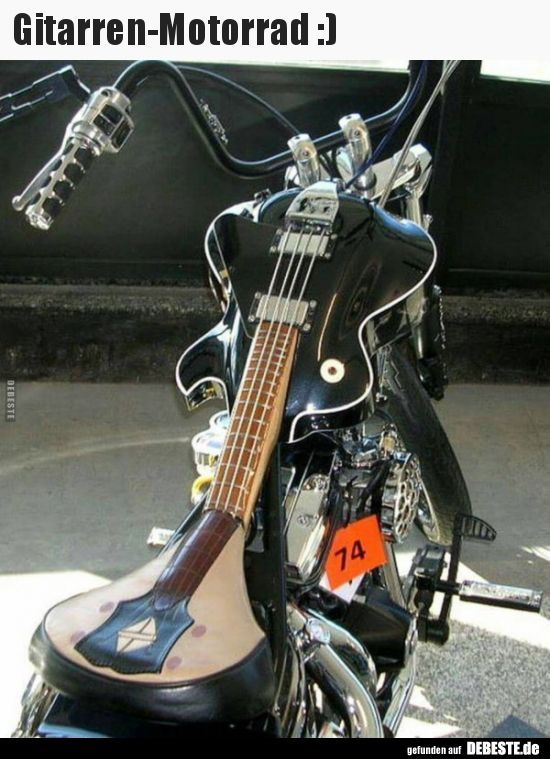Guitar Motorcycle :) | Funny pictures, sayings, jokes, really funny- Gitarren-Mo…