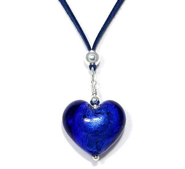 Amore Lasisydänkaulakoru Be049  Naisten hopeakorut, hopeakorut netistä, muodikkaat hopeakorut