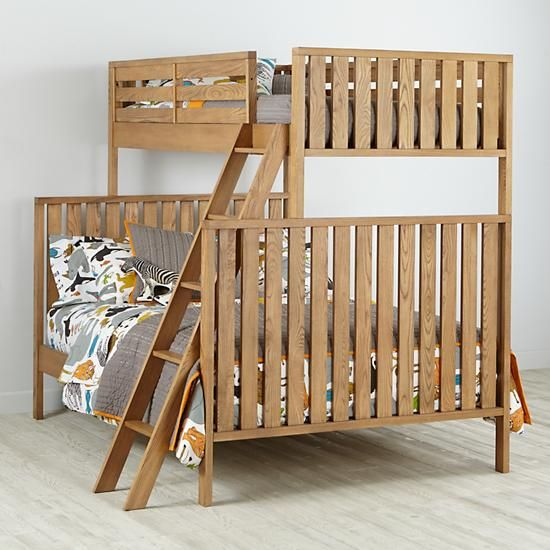 Cargo Twin Over Full Bunk Bed Natural The Land Of Nod Lukes
