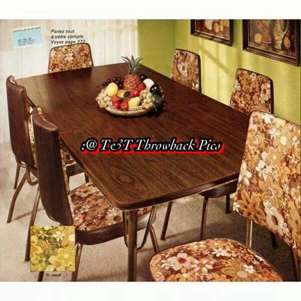 Flower Power Dinette Set Our First Table And ChairsexactlySame Color Every Thing