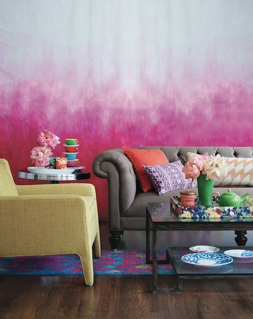 How to Paint an Eye-Catching Ombre Wall | Ombre, Walls and Interiors