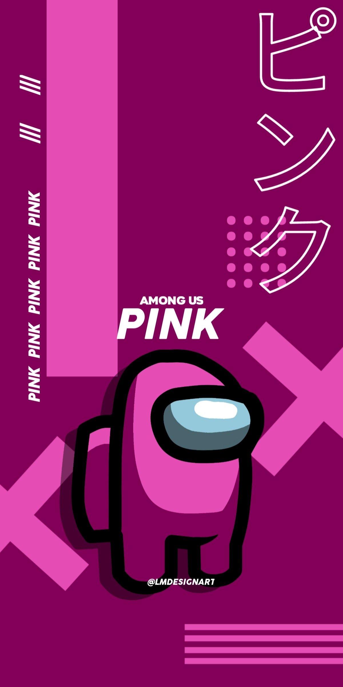 Among Us Pink Cute Patterns Wallpaper Cute Cartoon Wallpapers Funny Phone Wallpaper