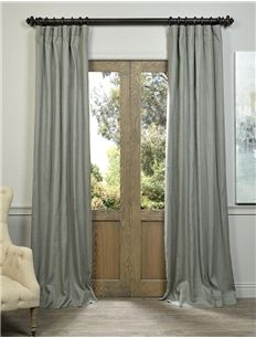 Grey French Linen Curtain Use As Shower Curtain Panels In Hall Bath Faux Silk Curtains Half Price Drapes Panel Curtains