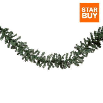 Woodland Pine Garland 9 Departments Diy At B Q Pine Garland Green Garland Garland