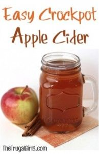Easy Crockpot Apple Cider