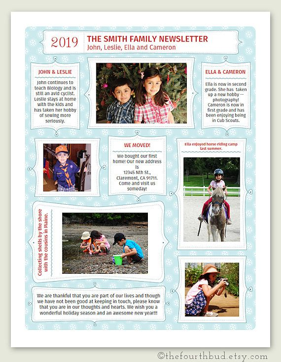 Create a beautiful newsletter in print this christmas newsletter this christmas newsletter year in review template is perfect for writing news in brief to use the newsletter template you will need adobe reader for spiritdancerdesigns Image collections