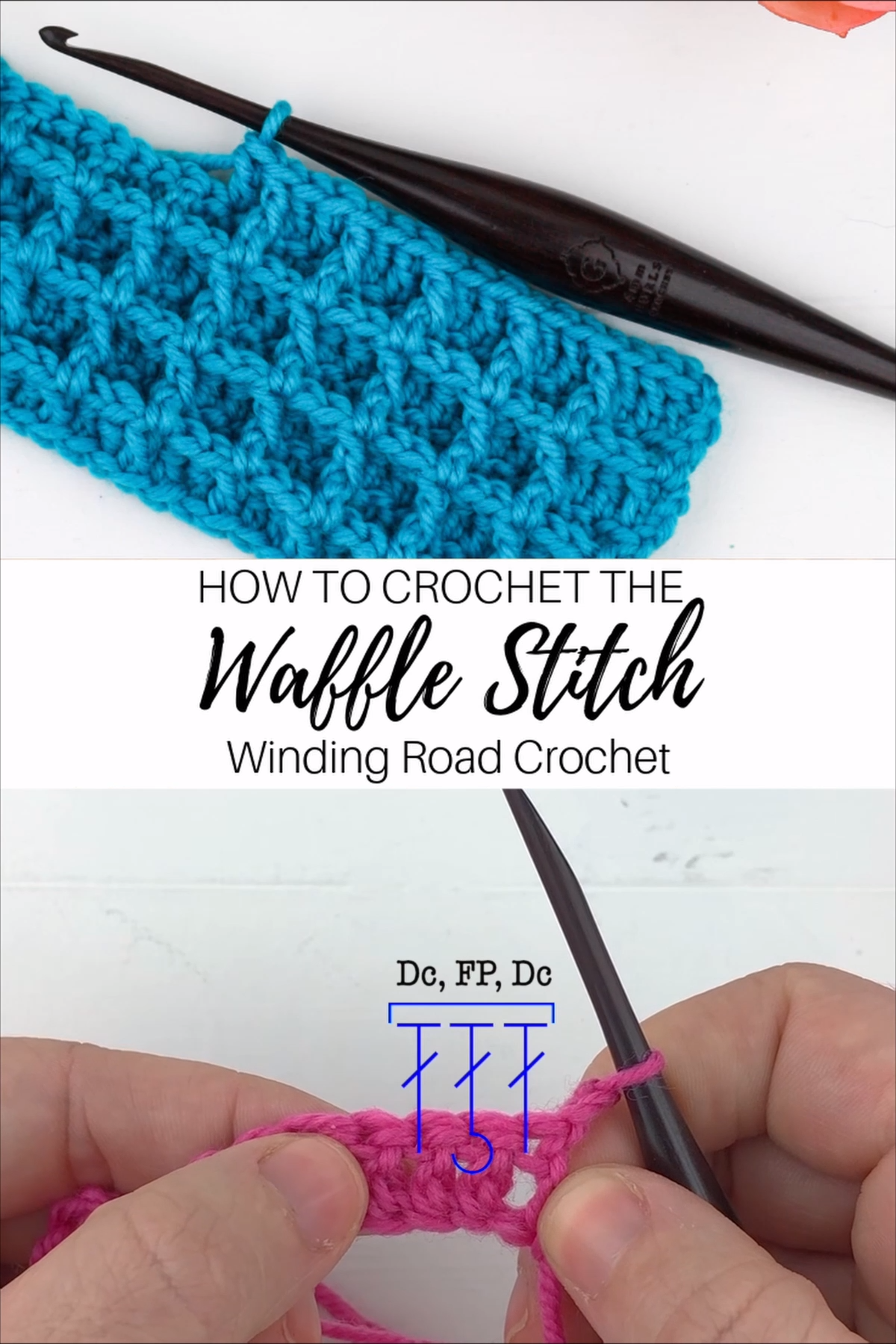 Crochet Waffle Stitch Video and Photo Tutorial