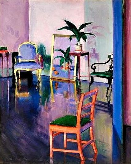 Francis Cadell  The Red Chair