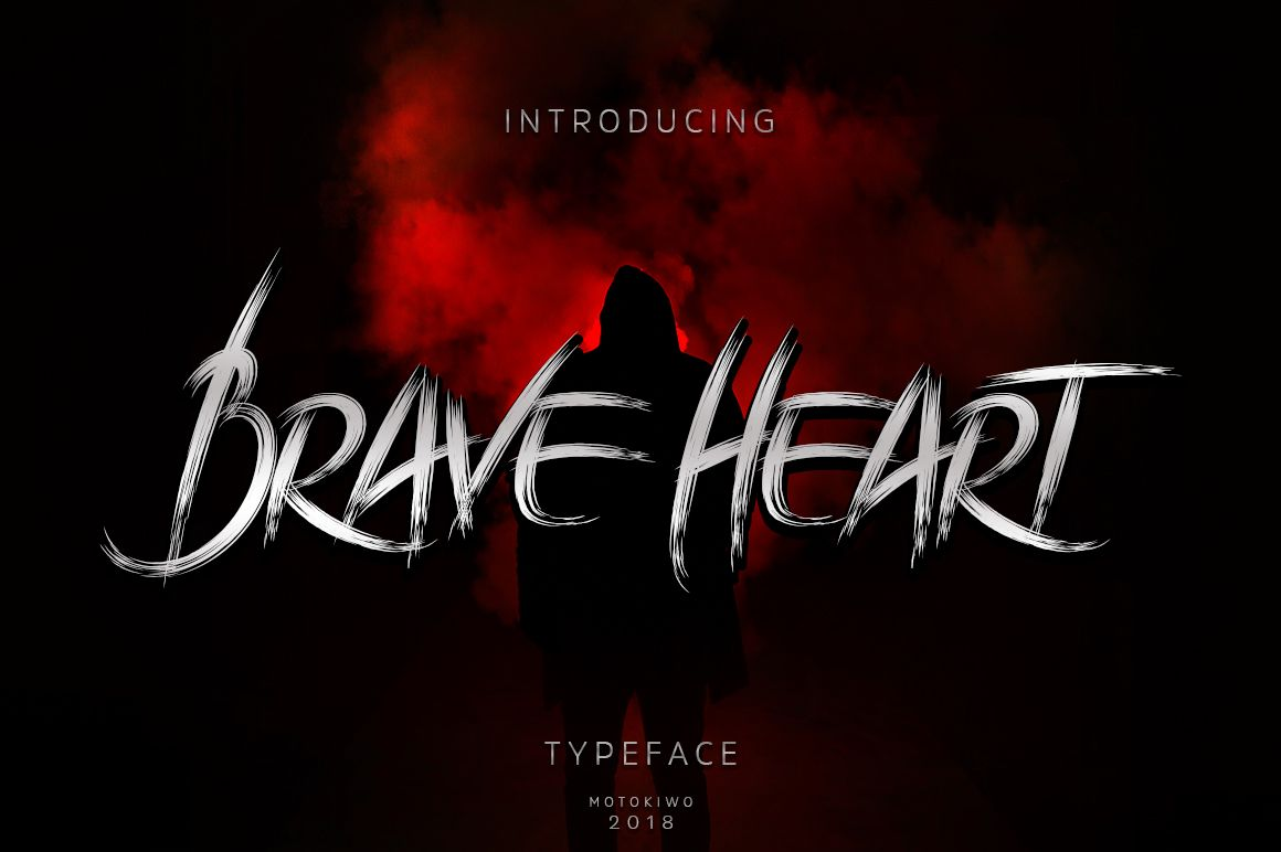Brave Heart Edgy Fonts Heart Font Braveheart