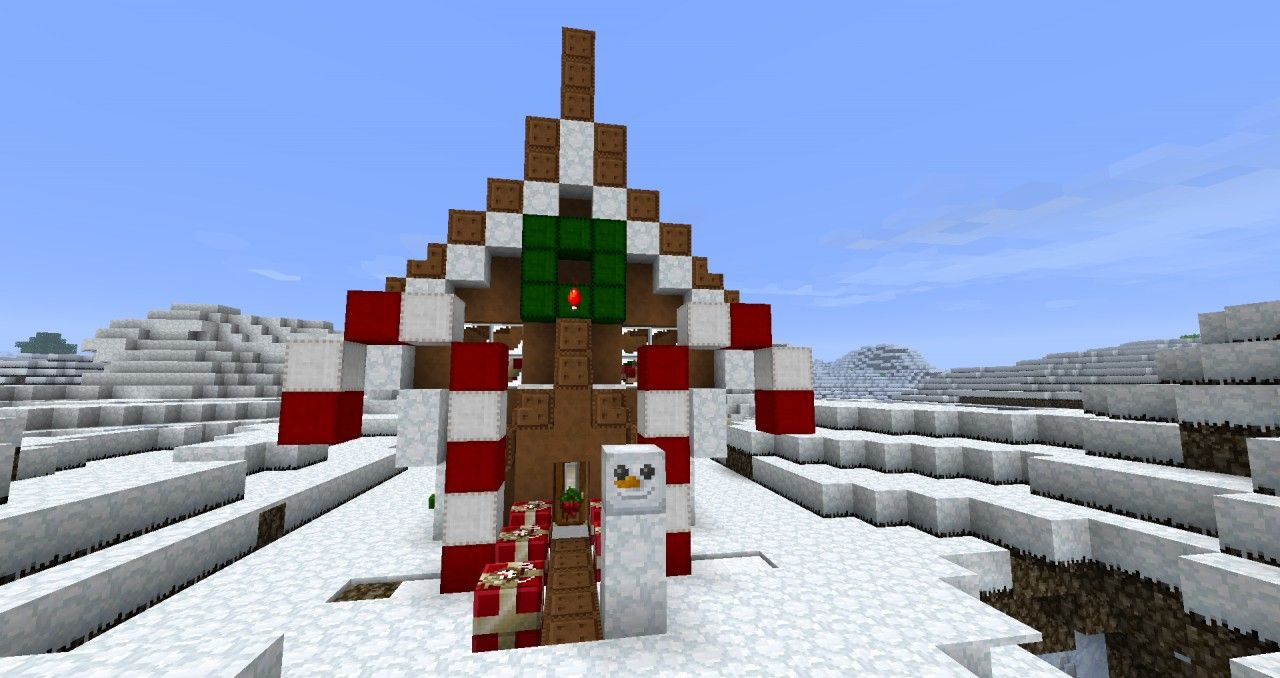 Minecraft Christmas Houses.Gingerbread House Minecraft Project Minecraft Projects
