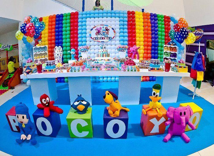 decoración de mesa de pocoyo - Buscar con Google Pastel - decoracion de cumpleaos