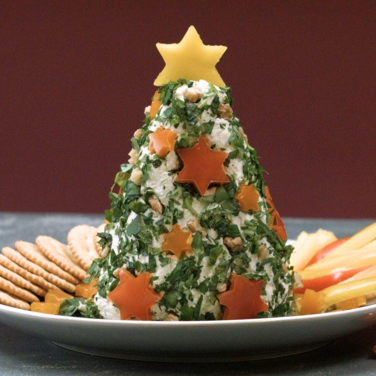 Frischkäse-Tannenbaum mit frischen Kräutern und Paprika | Chefkoch.de Video #creamcheeserecipes