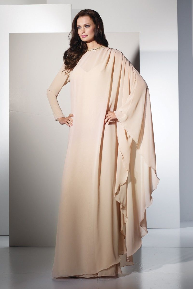 Elegant Chiffon Evening Gown with Cover Up 29499 | Hijabi ...