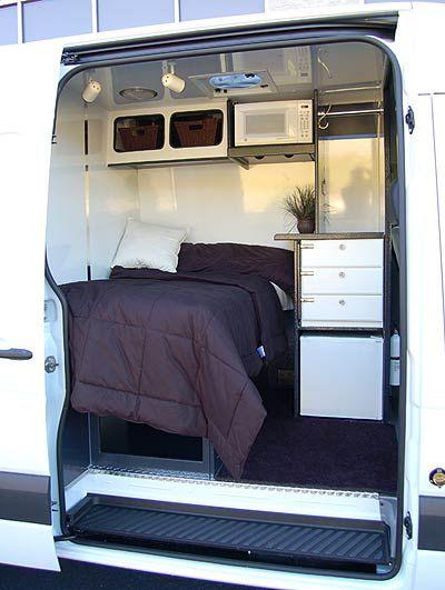 bed idea | Campervan conversions, Camper van, Camper