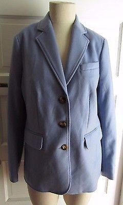 NWOT Womens LL Bean Bellandi 8 Blazer Jacket Wool Cashmere Powder Blue Italy