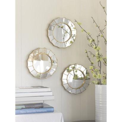 Sunburst Mirror Set Of 3 Gold Threshold Round Mirrors