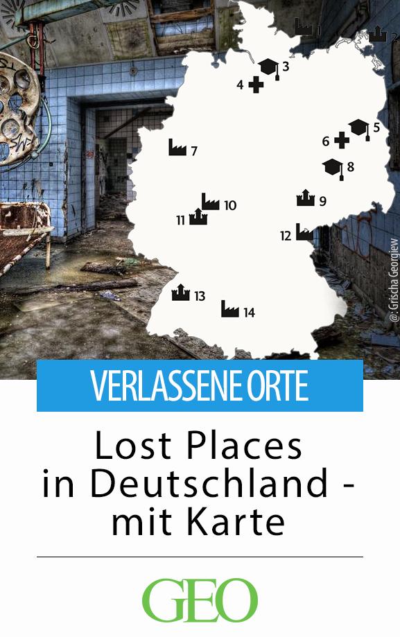 De norte a sur, de lugares encantados a espeluznantes: lugares perdidos en Alemania