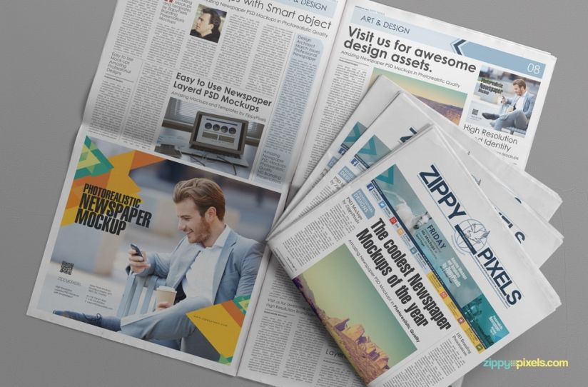 Free Beautiful Newspaper Ad Psd Mockup  Mockup Newspaper And