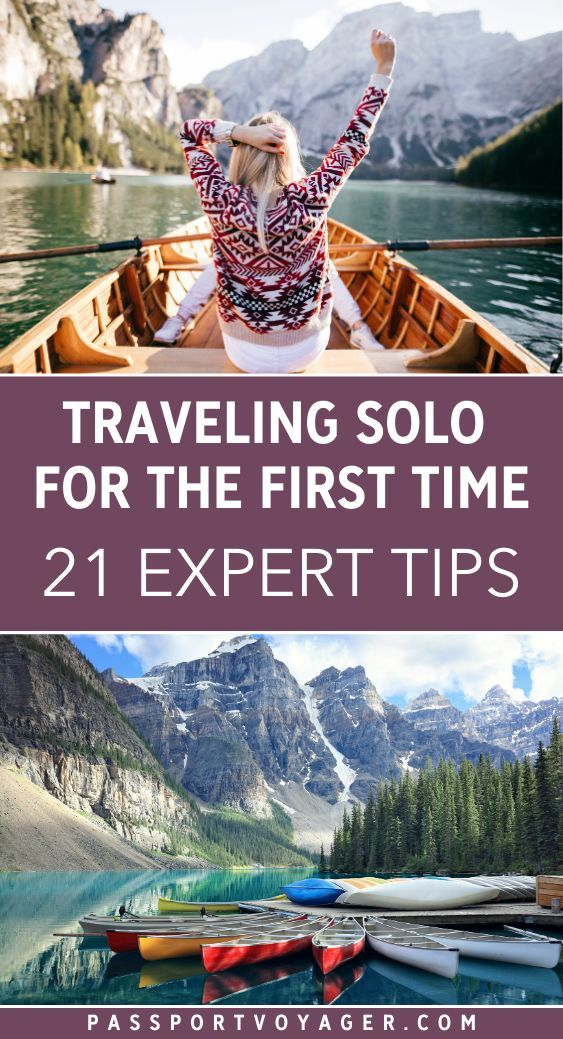 Want to explore the world on your own but not sure how to start? Let us help! These 21 smart tips from super experienced solo travelers will help make your upcoming adventures much more safe and fun. Everything from how to eat alone (and enjoy it!) to staying safe at night on your own - we cover it all. Don't take your first solo trip before reading this advice! #solotravel #traveltips #travelhacks #travel