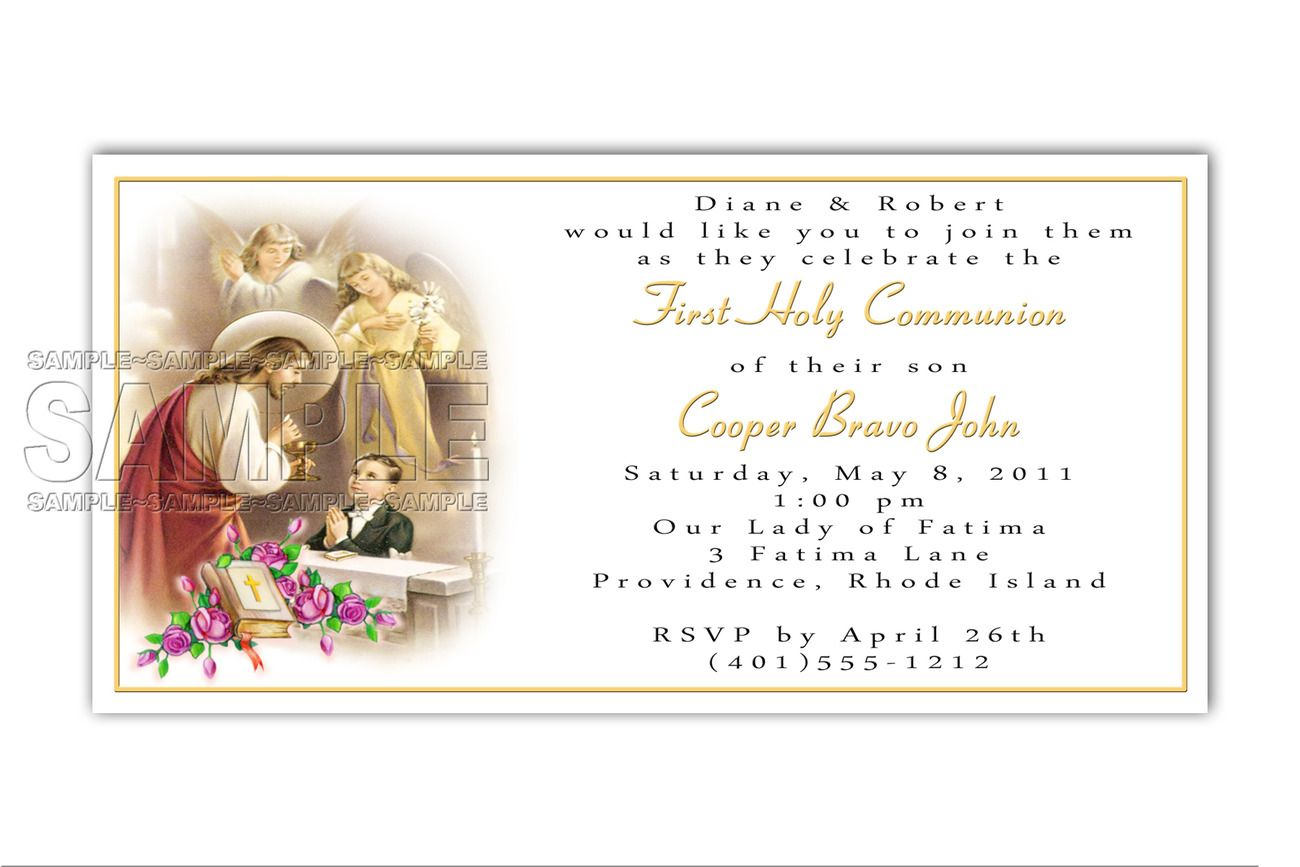 Doc774486 Holy Communion Invitation Cards First Communion – Holy Communion Invitation Card