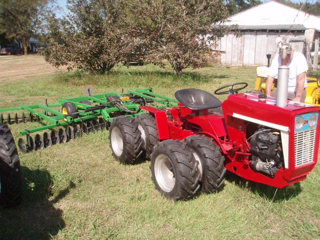 Big Tires On Garden Tractor : Custom fwd cub cadet w fold up disk tractors pinterest