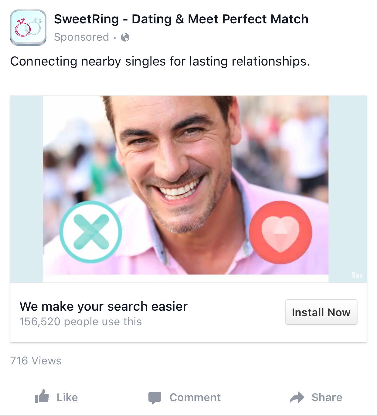 Dating-Website Facebook-App
