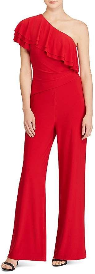 Lauren Ralph Lauren One Shoulder Jumpsuit Lady In Red In 2018