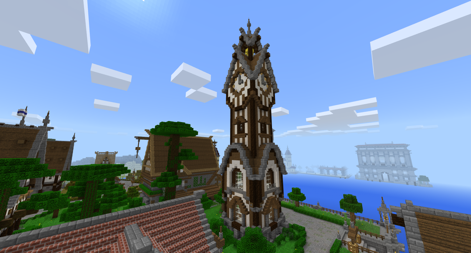 Minecraft Clock Tower Minecraft Blueprints Minecraft Minecraft Construction