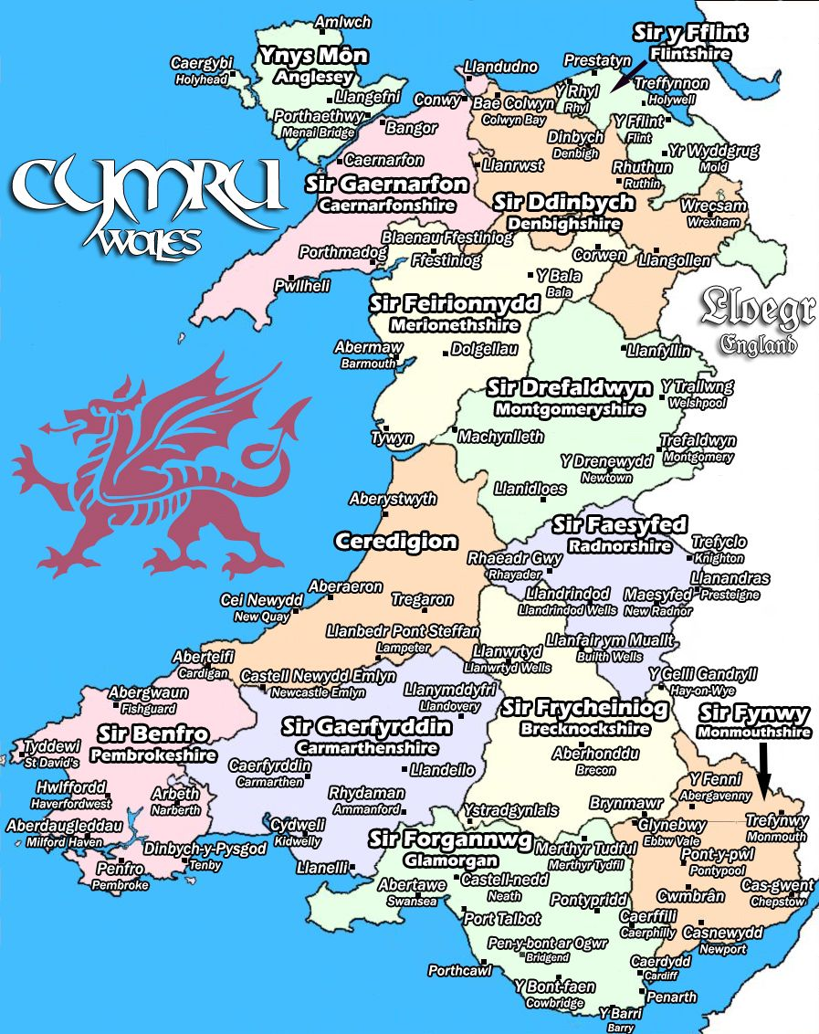 Wales In Welsh Wales Map Wales Welsh Sayings