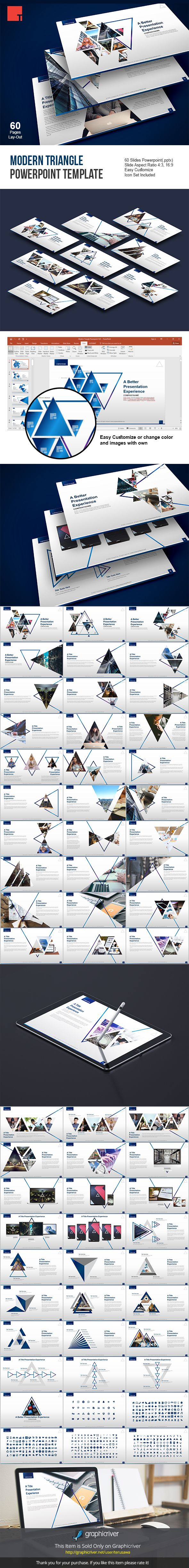 Modern triangle powerpoint template creative powerpoint templates modern triangle powerpoint template creative powerpoint templates presentation templates pinterest toneelgroepblik Image collections