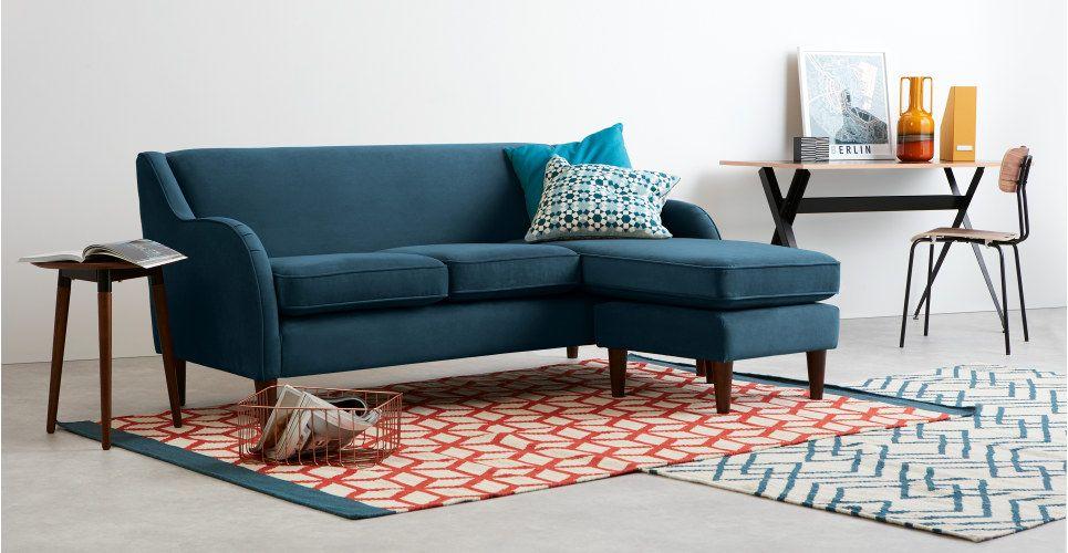 crushed velvet sofa australia eiffel full grain vintage leather 3 piece sectional teal corner bed   baci living room