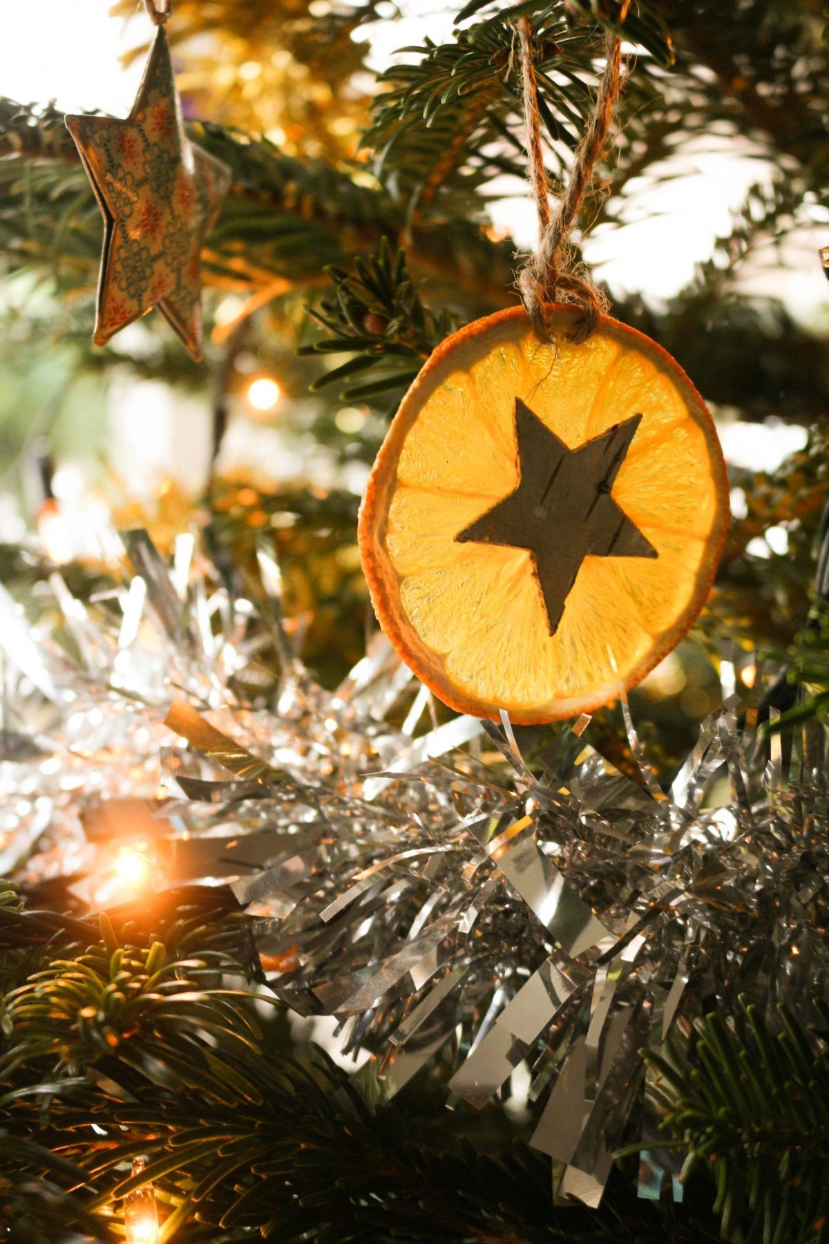 Diy orange star handmade christmas decorations christmas crafts