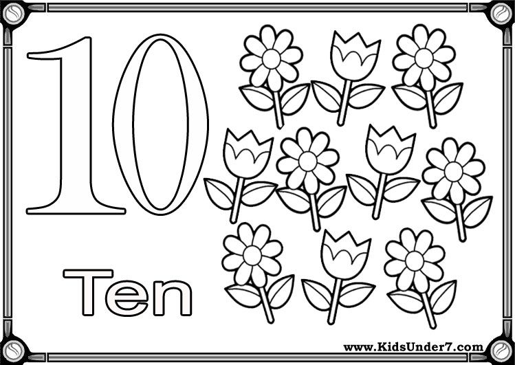 Flash Cards To Learn Numbers Coloring Pages Handwriting Numbers Printable Numbers