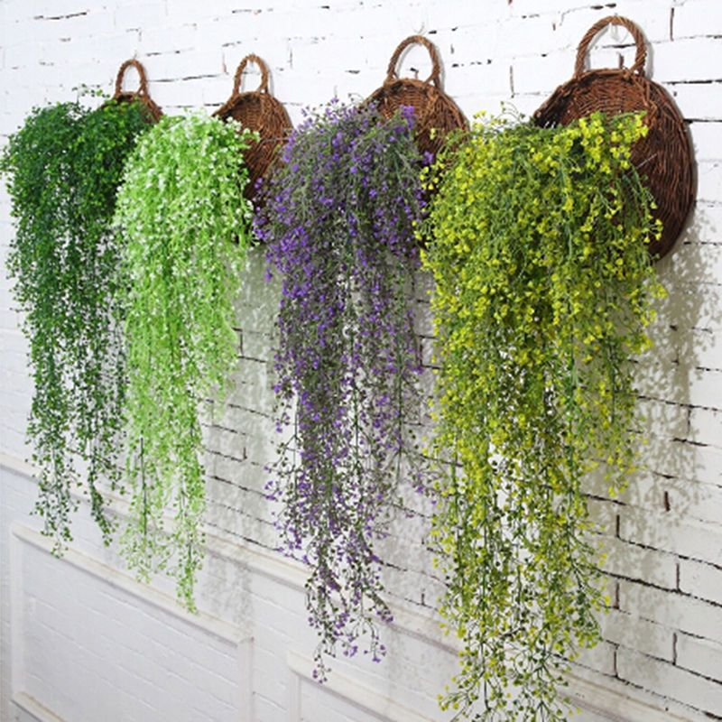 2 45 Artificial Hanging Vine Faux Plant Fake Money Persian Wall Hanging Garden Ebay Home Hanging Plants Indoor Artificial Plants Indoor Hanging Plant Wall