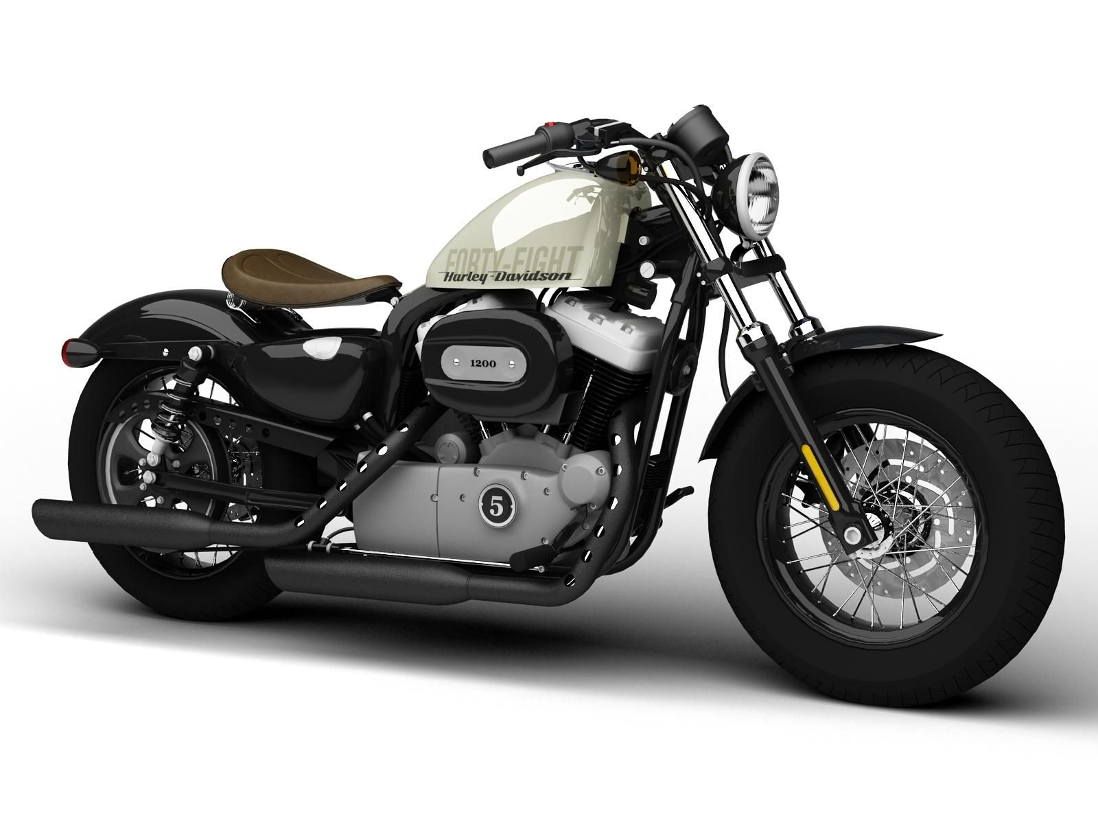 HarleyDavidson XL1200 Sportster FortyEight 2014 3D Model