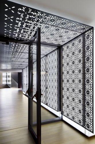 backlit decorative wall panel KIMC Eventscape  restaurant  Studios architecture Architecture