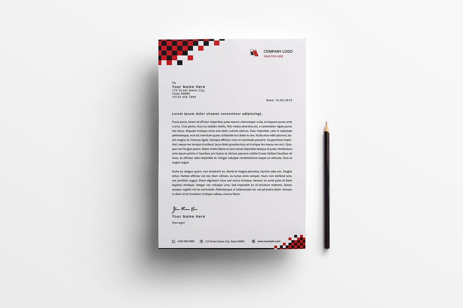 Modern Letterhead Personalized Stationary Personalized