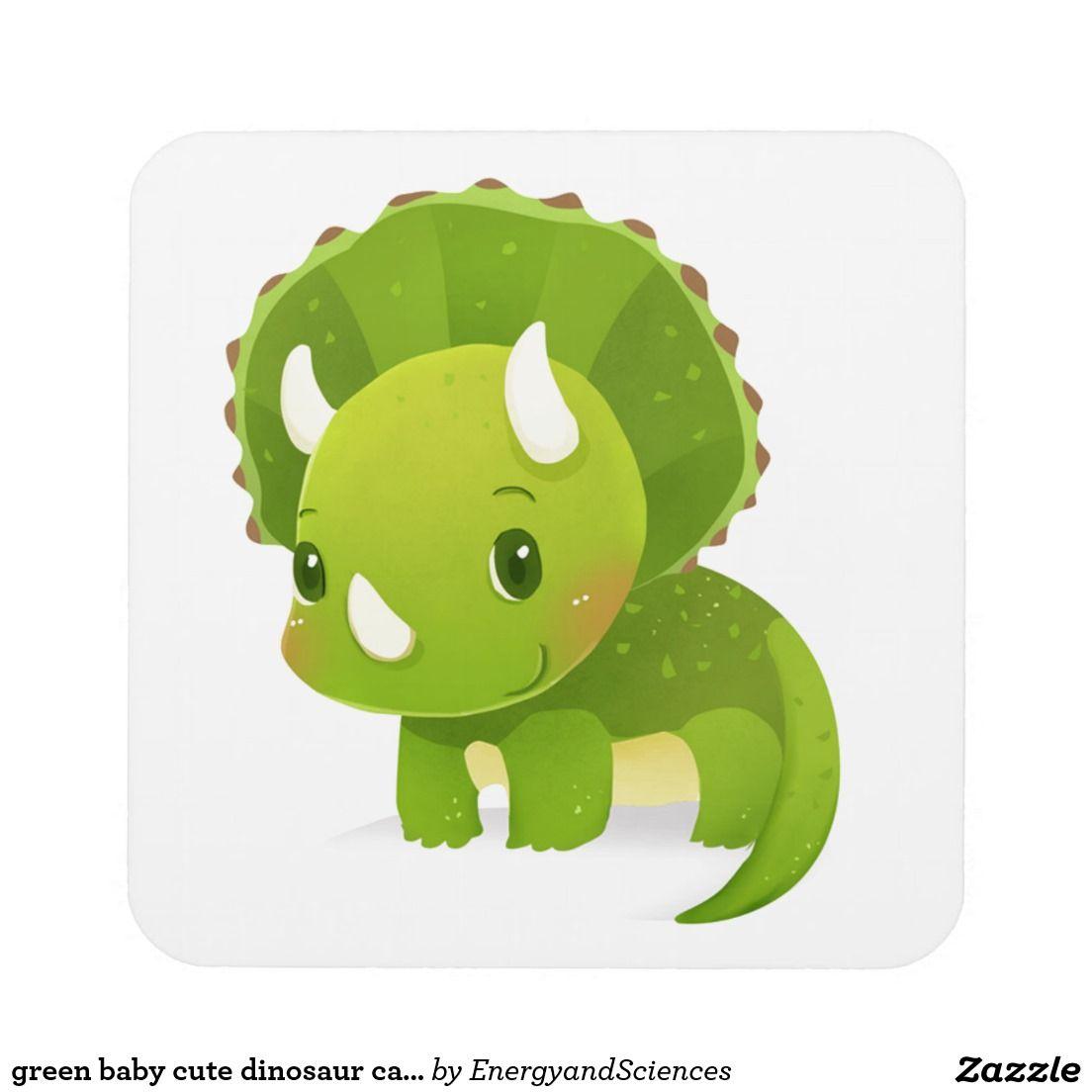 green baby cute dinosaur cartoon drink coaster   Zazzle ...