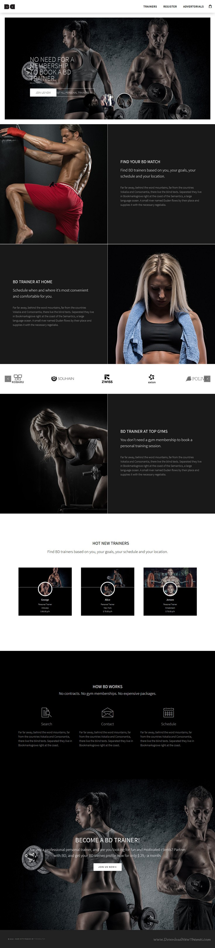 Brian Davis is an ultra go-with-the-flow WordPress #theme and suitable for all kinds of businesses. From creative, portfolio and marketing, merchandising concepts for 'personal businesses' to 'listing concepts with paid subscriptions', 'eCommerce stores' and flexible eye candy 'Blogging sites. #trainer #fitness Download Now!