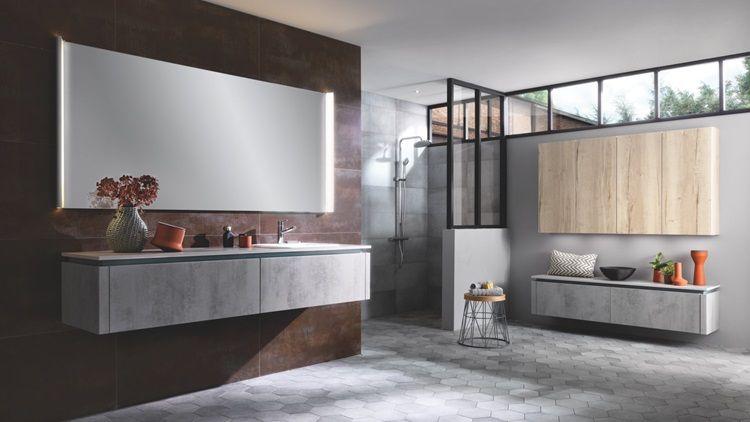 Loft Story Colección Gama de diseño Este cuarto de baño está formado