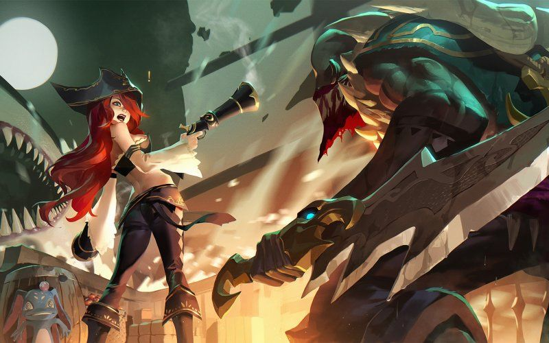 Wallpaper Miss Fortune And Pyke League Of Legends League